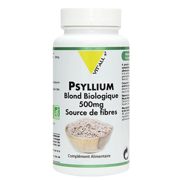 Vit'all+ Psyllium Blond Bio 500mg 100 gélules végétales