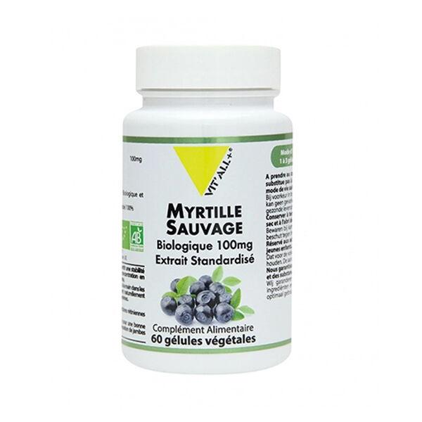 Vit'all+ Myrtille Sauvage Bio 100mg 60 gélules végétales