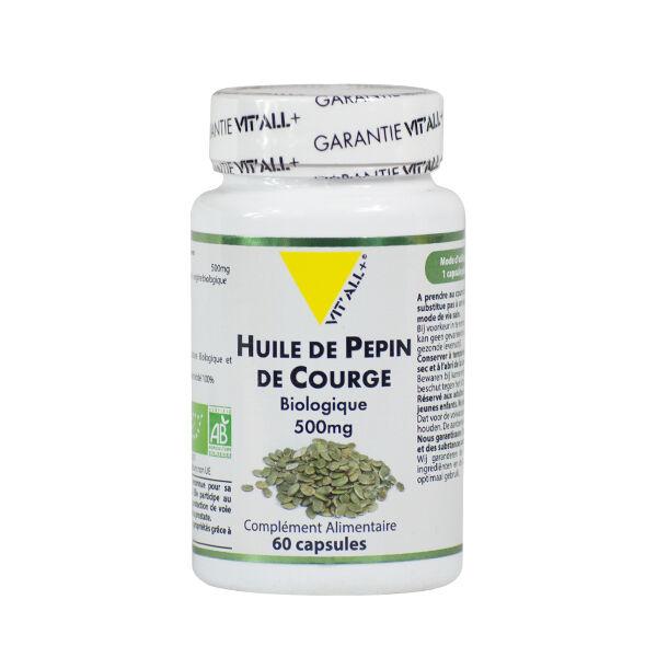 Vit'all+ Huile de Pépin de Courge Bio 500mg 60 capsules
