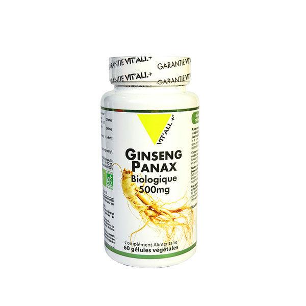 Vit'all+ Ginseng Panax Bio 60 gélules végétales