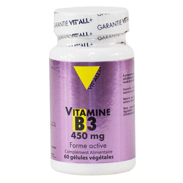 Vit'all+ Vitamine B3 450mg 60 gélules végétales