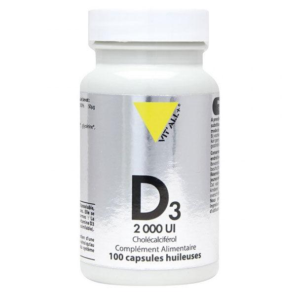 Vit'all+ Vitamine D3 2000UI Cholécalciférol 100 capsules