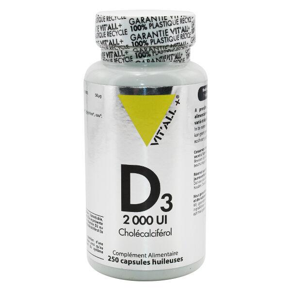 Vit'all+ Vitamine D3 2000 UI 250 capsules