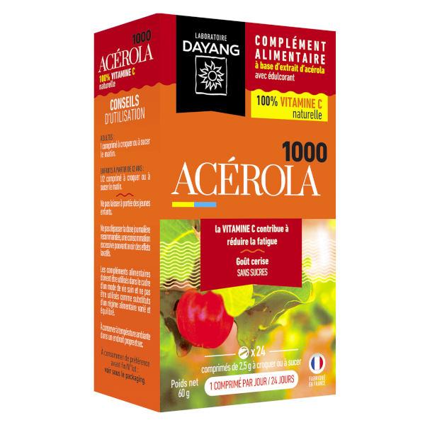 Dayang Acérola 1000 24 comprimés