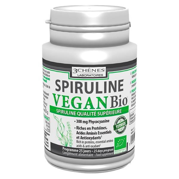 Les 3 Chenes Les 3 Chênes Spiruline Vegan Bio 100 comprimés