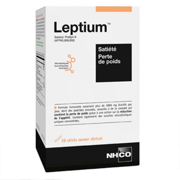 NHCO Leptium Satiété et Perte de Poids Goût Abricot 28 Sticks