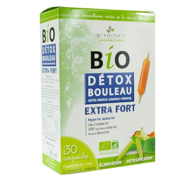 Les 3 Chênes Bio Détox Bouleau 30 ampoules x 10ml