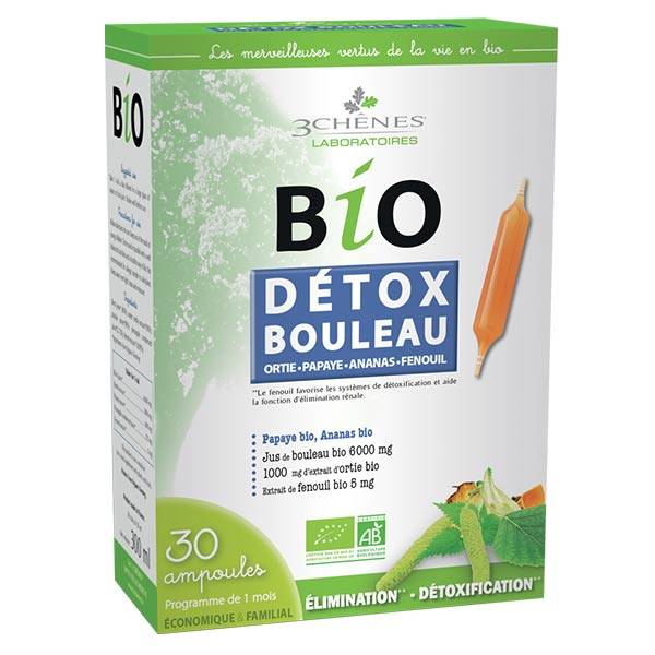 Les 3 Chenes Les 3 Chênes Bio Détox Bouleau 30 ampoules x 10ml