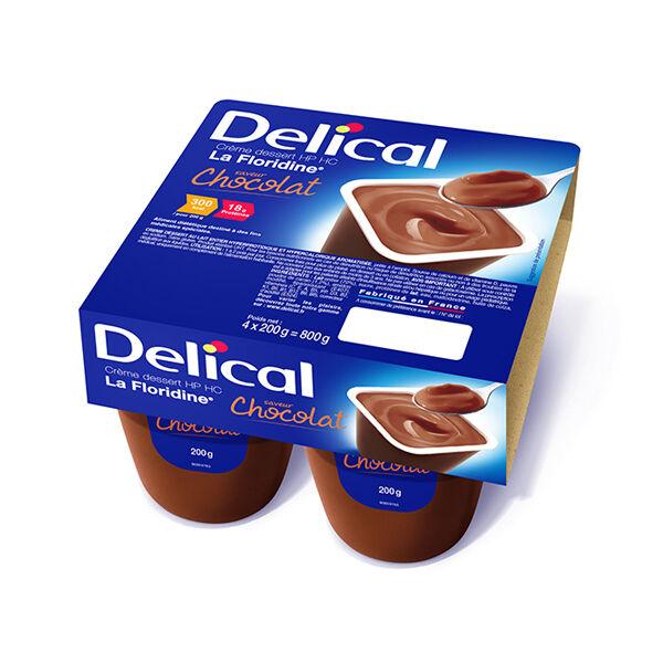 Delical Crème Dessert HP HC La Floridine Chocolat 4 x 200g