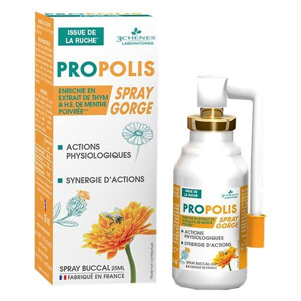 Les 3 Chênes Propolis Spray Gorge 25ml
