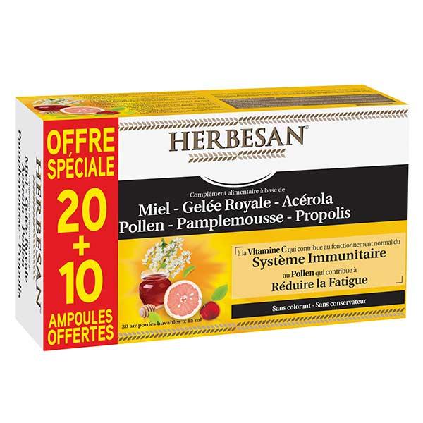 Herbesan Propolis + Gelée Royale 20 + 10 ampoules offertes