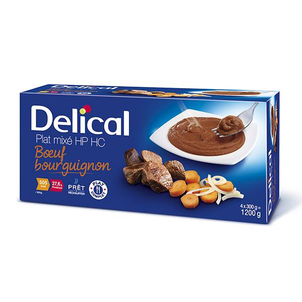 Delical Nutra'Mix HP HC Boeuf Bourguignon 4 x 300ml