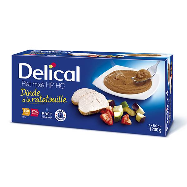 Delical Nutra'Mix HP HC Dinde Ratatouille 4 x 300ml