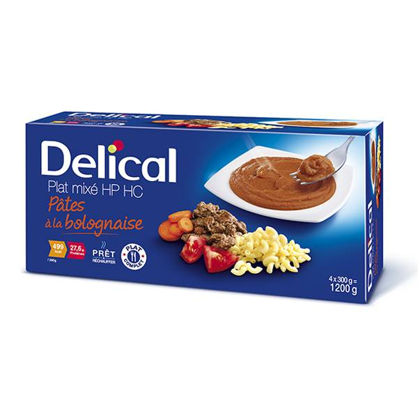 Delical Nutra'Mix HP HC Pâtes Bolognaise 4 x 300ml
