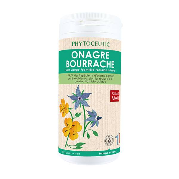 Phytoceutic Bio Huile Onagre et Bourrache 360 capsules