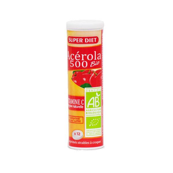 Super Diet Acérola 500 Bio tube de 12 comprimés à croquer