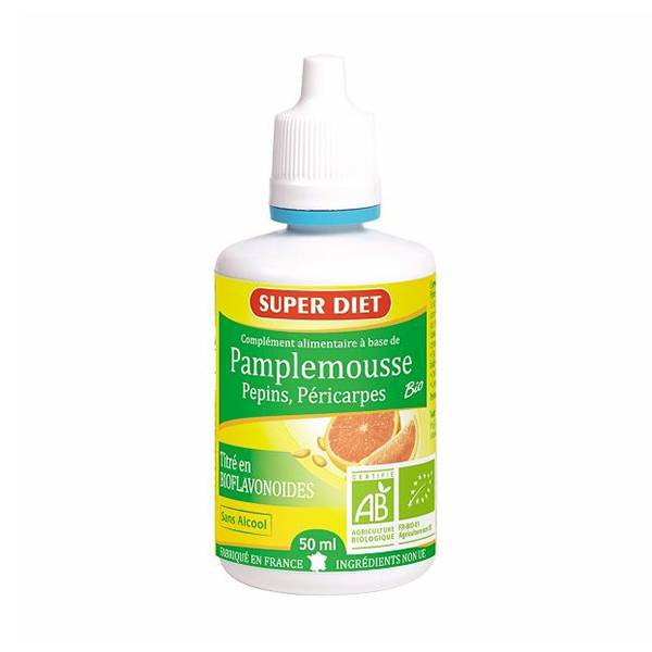 SuperDiet Super Diet Extrait de Pamplemousse Bio 50ml