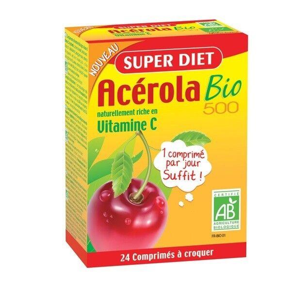 Super Diet Acérola 500 Bio - 24 comprimés à croquer