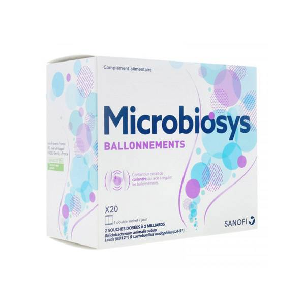 Sanofi Aventis Sanofi Microbiosys Ballonnements 20 sachets