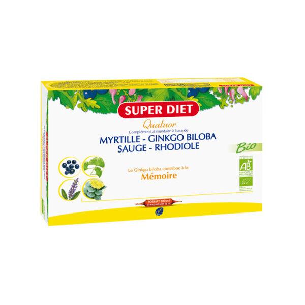Super Diet Quatuor Mémoire 20 ampoules x 15ml
