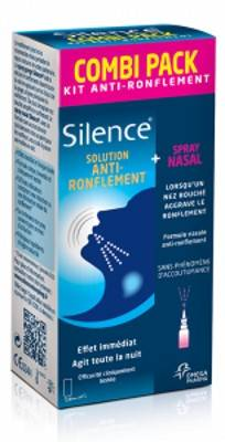 Silence Kit Anti-Ronflement Spray Nasal 15ml + Spray Gorge 50ml