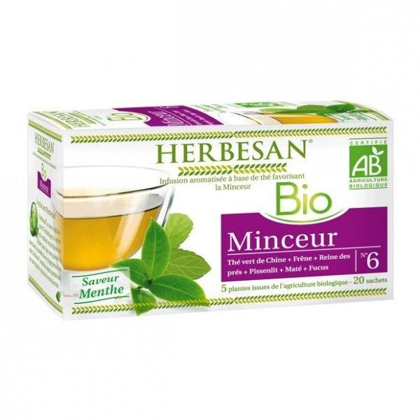 Herbesan Bio Infusion Minceur Saveur Menthe n°6 - 20 sachets