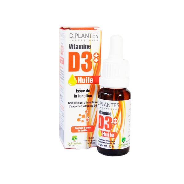 D-Plantes Vitamine D3 Huile 400UI 20ml