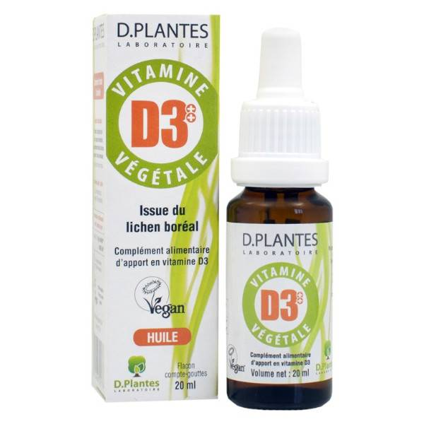 D-Plantes Vitamine D3 Végétale 400UI 20ml