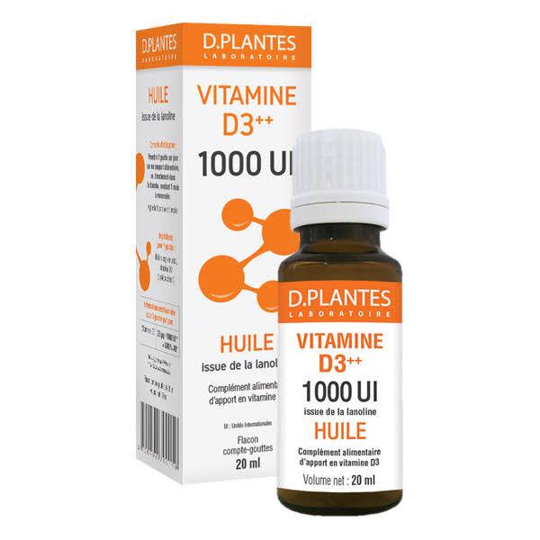 D-Plantes Vitamine D3 1000 UI 20ml