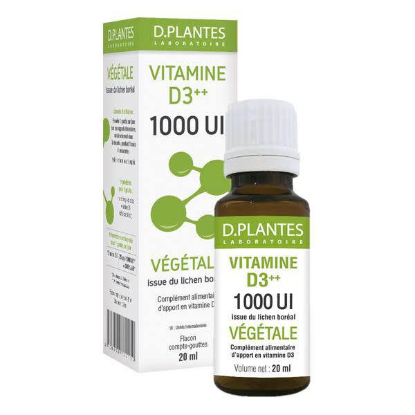D.Plantes D-Plantes Vitamine D3 Végétale 1000 UI 20ml
