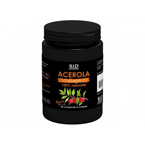 SID Nutrition Santé Tonique Acérola 30 comprimés