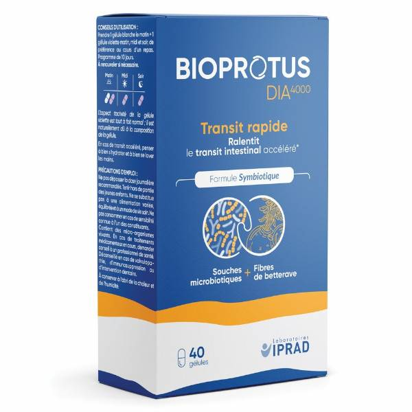Carrare Bioprotus Dia4000 Transit Rapide 40 gélules