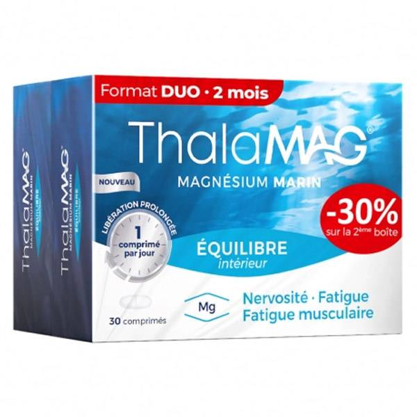 Thalamag Magnésium Marin Equilibre Intérieur LP Lot de 2 x 30 comprimés