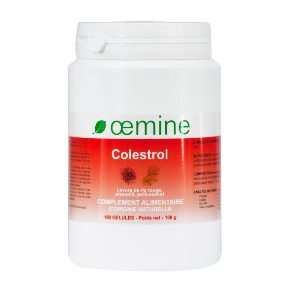 Oemine Colestrol Levure de Riz Rouge Pissenlit Policosanol 180 gélules