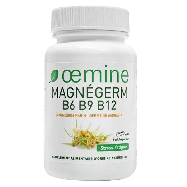 Oemine Magnégerm B6 B9 B12 Magnésium Marin - Germes de Sarrasin 60 gélules