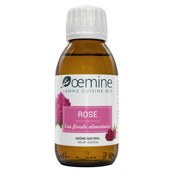 Oemine Eau Florale Alimentaire Rose Bio 125ml