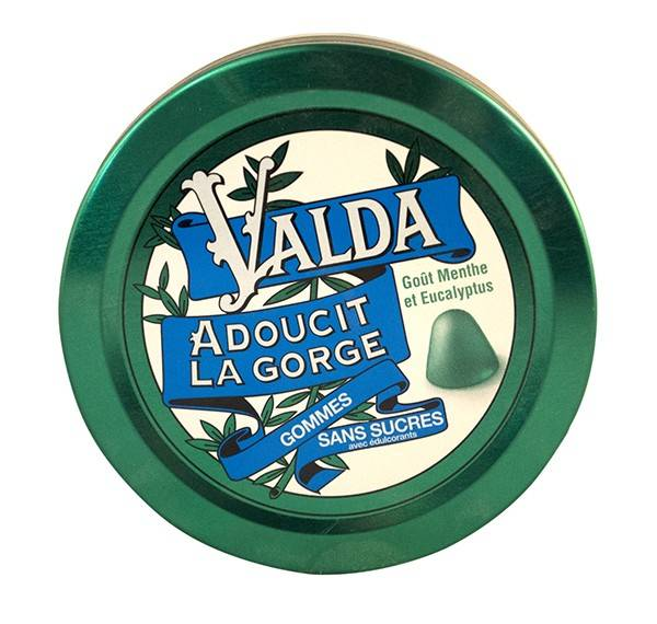 Valda Gommes Sans Sucres Goût Menthe Eucalyptus 50g