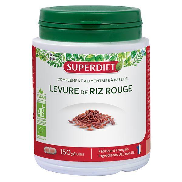 Superdiet Levure de Riz Rouge 150 gélules
