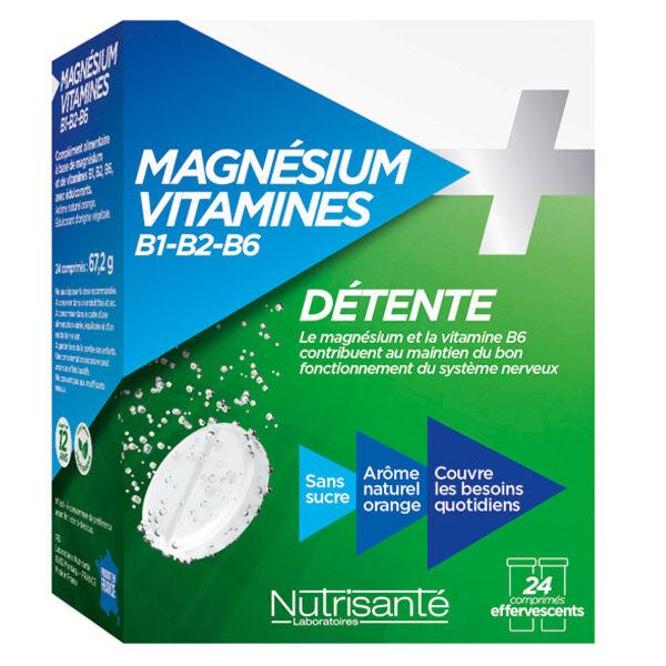 Nutrisanté Magnésium + Vitamines 24 comprimés effervescents