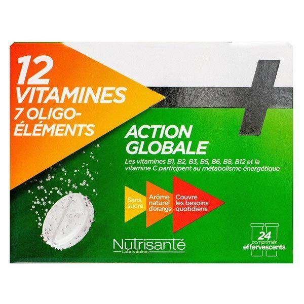 Nutrisanté 12 Vitamines 7 Oligo-Éléments 24 comprimés effervescents