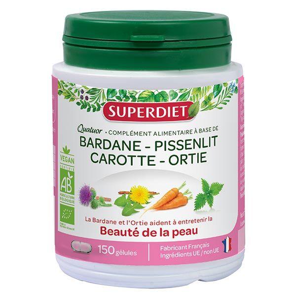 SuperDiet Super Diet Quatuor Bardane Beauté de la Peau Bio 150 gélules
