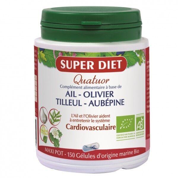 Super Diet Quatuor Ail Cardiovasculaire Bio 150 gélules