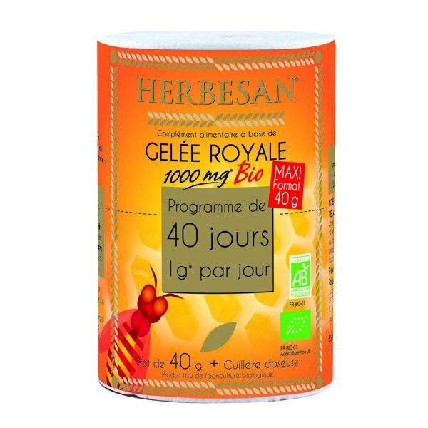 Herbesan Gelée Royale Bio Pot de 40g