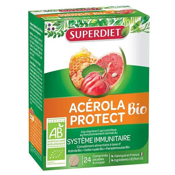 Superdiet Acérola Protect Bio 24 comprimés à croquer