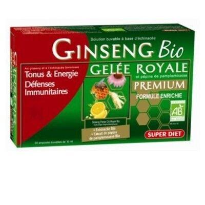Superdiet Ginseng Bio Gelée Royale 20 ampoules