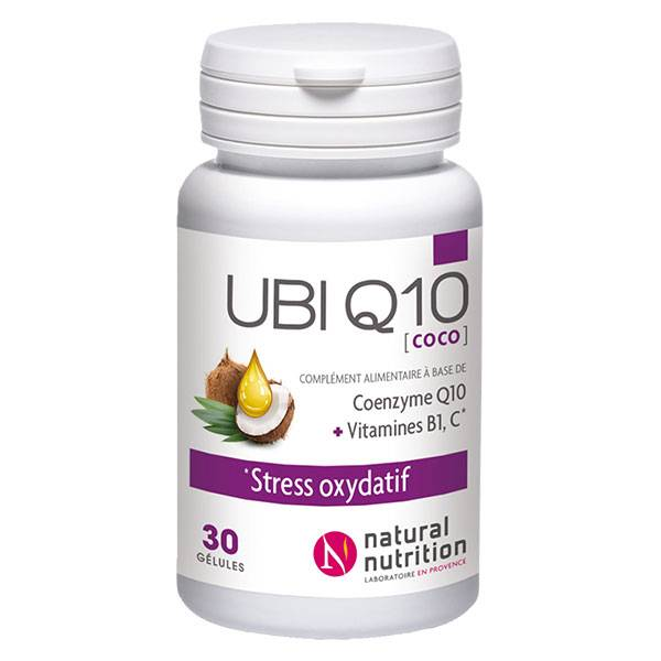 Natural Nutrition Ubi Q10 30 gélules