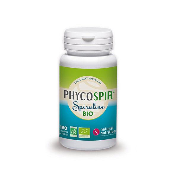 Natural Nutrition Spiruline Phycospir 500mg Bio 180 comprimés
