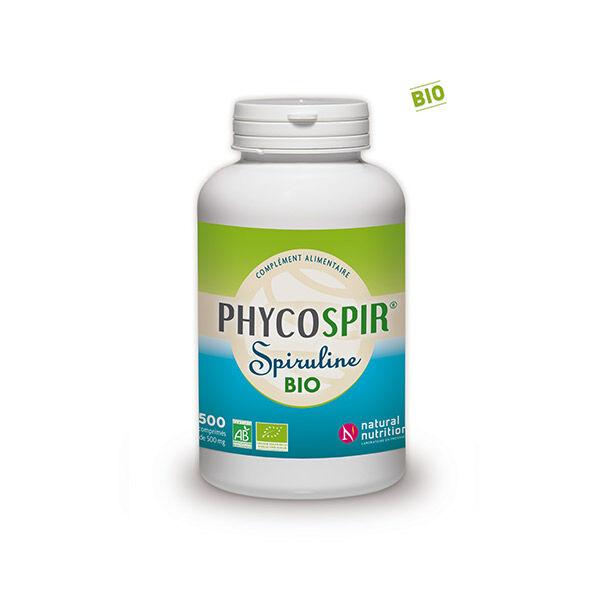 Natural Nutrition Spiruline Phycospir 500mg Bio 500 comprimés