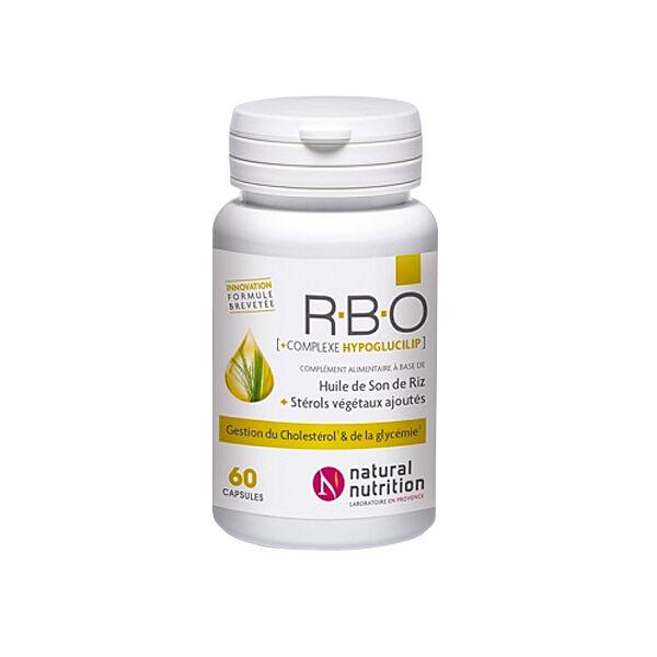 Natural Nutrition Huile de Son de Riz RBO 60 capsules