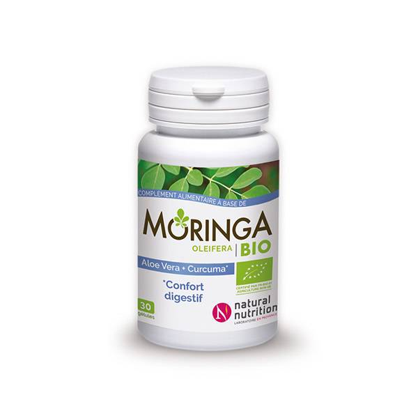 Natural Nutrition Moringa Bio Confort Digestif 30 gélules